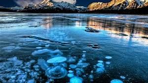 Wallpaper, Abraham, Lake, Canada, Mountain, Ice, 4k, Nature