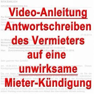 Kündigungsfrist Mietvertrag Mieter : video mieterk ndigung unwirksam k ndigungsfrist mietvertrag ~ Orissabook.com Haus und Dekorationen