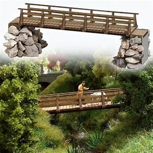 Petit Pont En Bois : passerelle pi tons busch 1497 ho pour mod lisme ferroviaire ~ Melissatoandfro.com Idées de Décoration