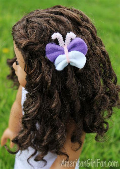 doll craft     felt butterfly hair clip