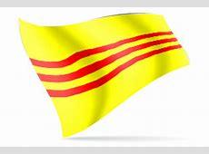 South Vietnam Desk Flag