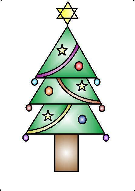 draw  decorative christmas tree  geometrical