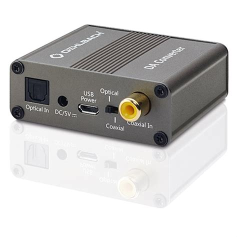digital analog wandler radio oehlbach 6064 digital analog wandler dac optisch coaxial auf cinch rca wandler ebay