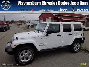 2013 Bright White Jeep Wrangler Unlimited Sahara 4x4