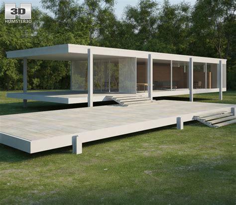 Farnsworth House - farnsworth house 3d model architecture on hum3d