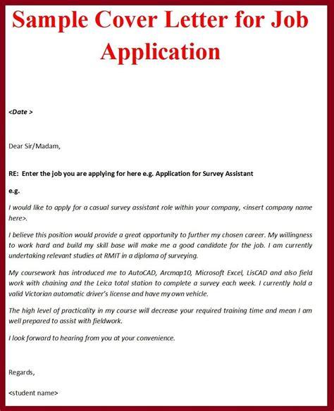 Sample Of Covering Letter For Job Application Resume