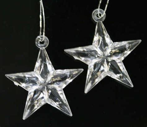 miniature clear acrylic star ornaments christmas
