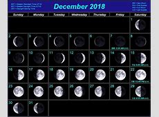 Calendar For Moon Phases In December 2018 Calendar