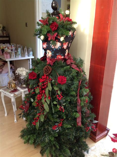 312 best dress form christmas trees images on pinterest