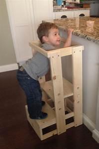 Child Kitchen Helper, Step Stool, Toddler Stool, Tot Tower