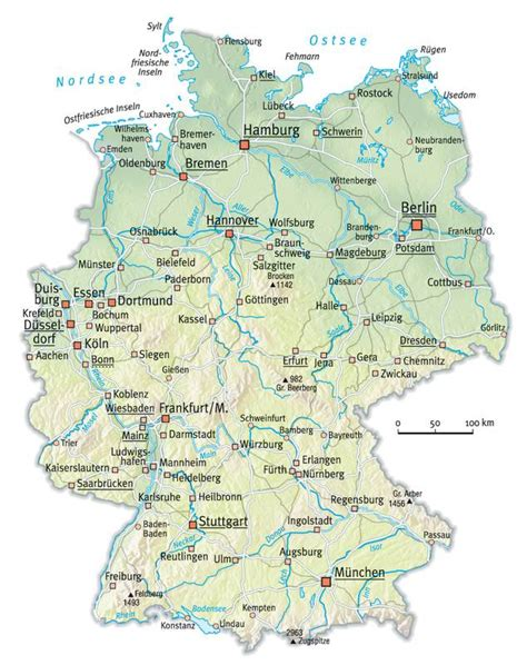 physical map  germany full size