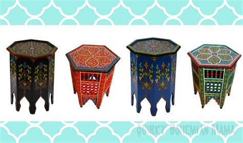 colorful side tables bohemian frugal bohemian lifestyle