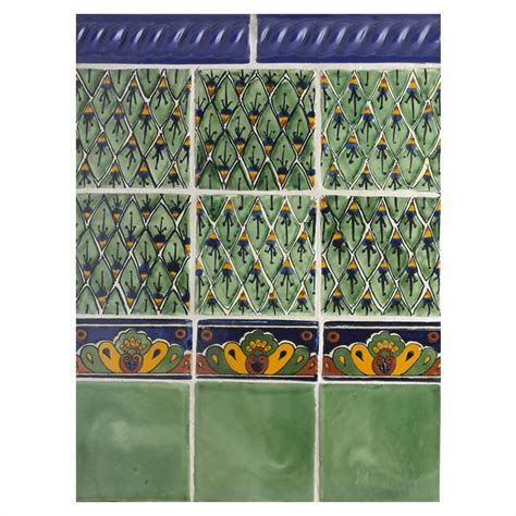 mexican shell tile mexican tile blue shell mexican tile