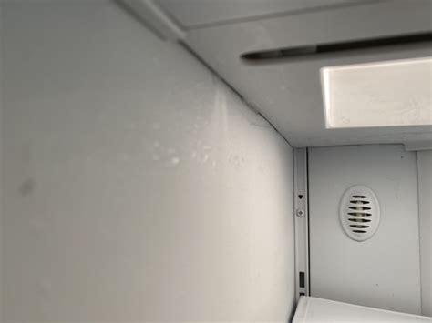 zisbdri ge monogram side  side refrigerator moisture builds   top left  fridge