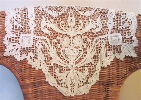 vintage crocheted antimacassars chair back cover doily