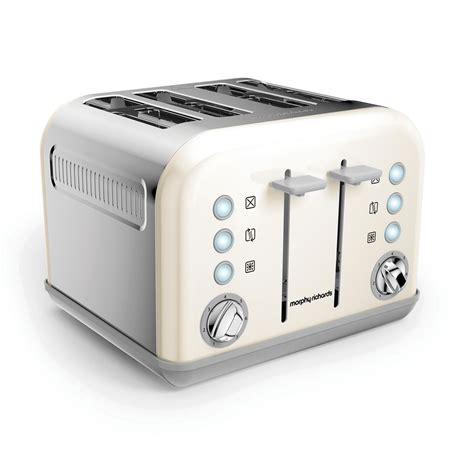 White Toaster by Morphy Richards 242032 Accents White 4 Slice Toaster