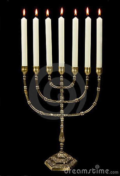 gold menorah candles royalty  stock  image