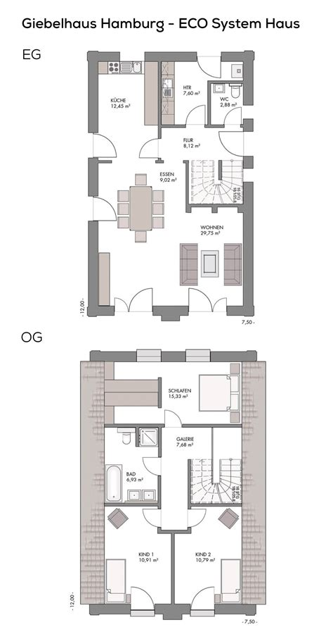 Grundriss Haus Schmales Grundstück by Grundriss Einfamilienhaus Schmal Als Landhaus Mit