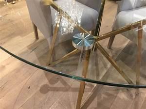 Tisch Glas Metall : runder tisch glas metall glastisch rund gold esstisch rund durchmesser 120 cm ~ Markanthonyermac.com Haus und Dekorationen