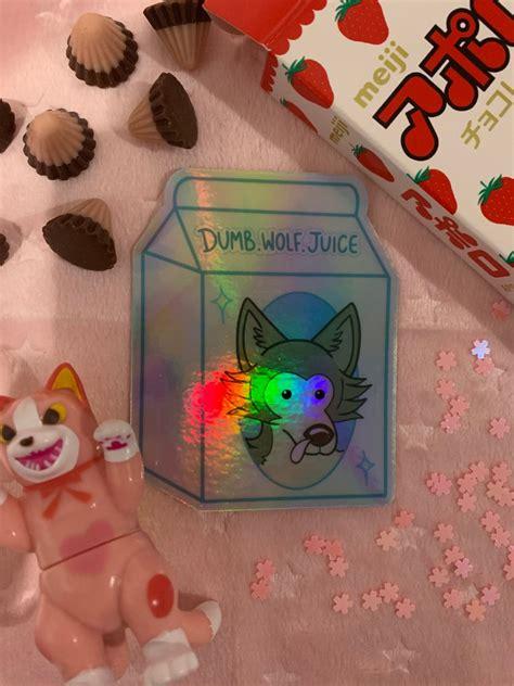 beastars holographic legoshi sticker dumb wolf juice etsy