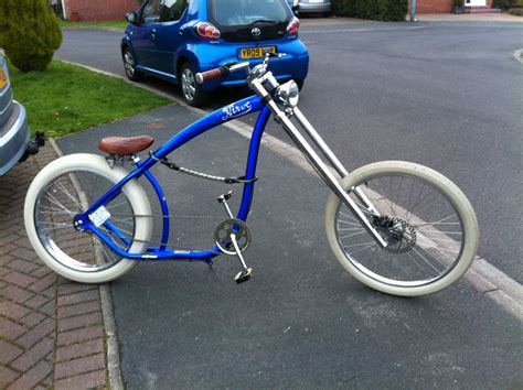 Modified Supine Bicycle by Details About Nirve Switchblade Chopper Bicycle Custom