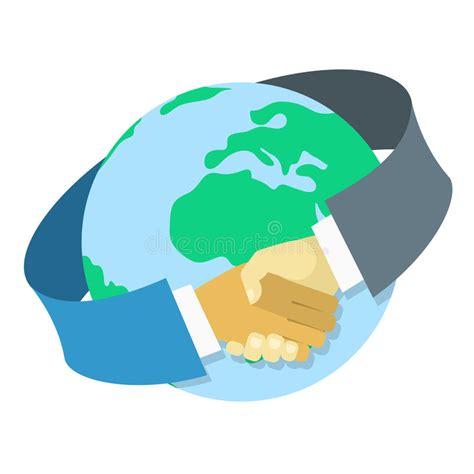 15112 international business meeting clipart internationale zusammenarbeit zwischen unternehmen vektor