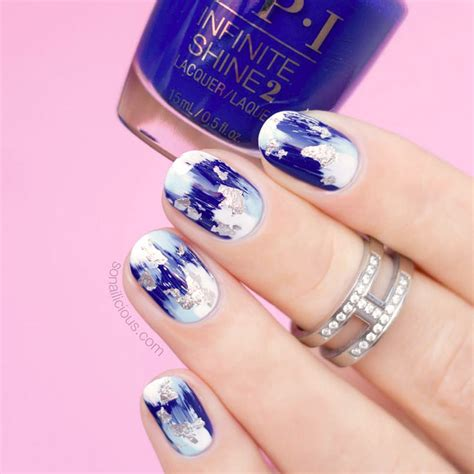 flawless perfection  cobalt blue nails