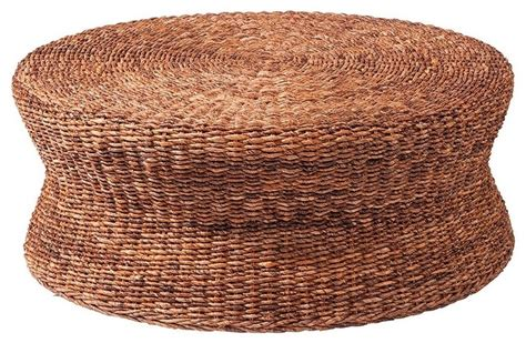 tropical round coffee table lanai woven round coffee table ottoman tropical coffee