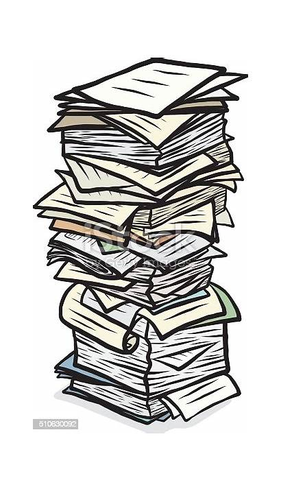 Stack Papers Clipart Paper Pile Stapel Papiere