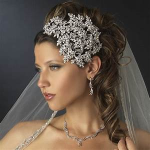 Vintage Couture Side Accented Crystal Bridal Headband