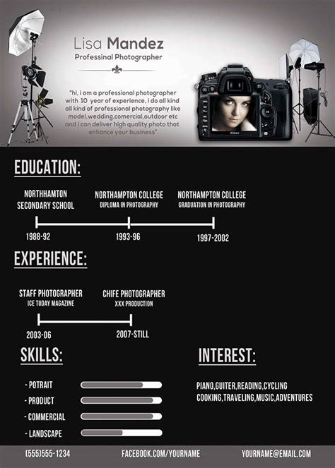 sle photographer resume background photograph is one of