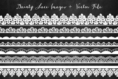 borders lace clip art illustrations creative market