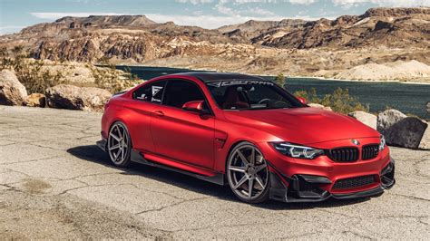 Ferrada Red Matte Bmw M4 5k Wallpaper