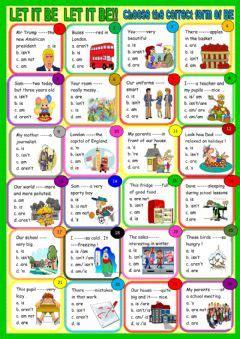 verb   interactive worksheets