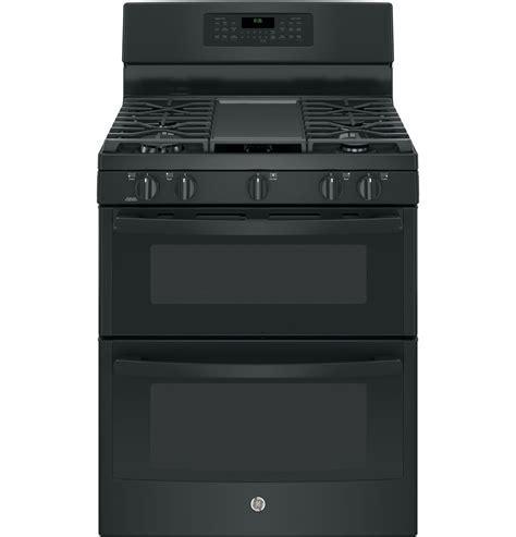 "GE 30"" Black Double Oven Gas Range   JGB860DEJBB"