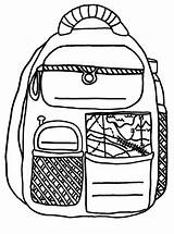 Backpack Coloring Pages Activity Traveller Printable Backpacks sketch template