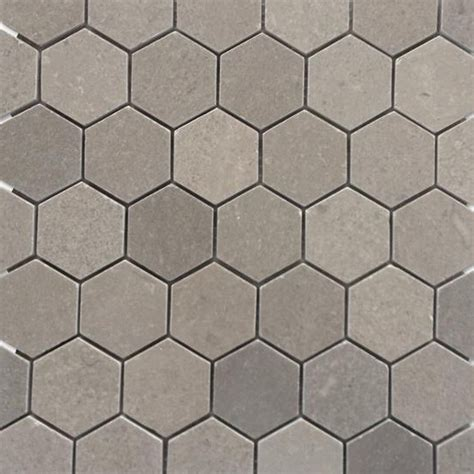 grey hexagon floor tile shop for lady gray 2 quot hexagon honed marble tile at tilebar com