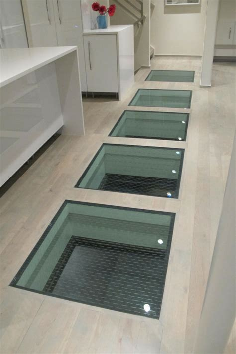 Water In Basement Solutions by How To Use Glass Floor Panels To Connect Spaces In A