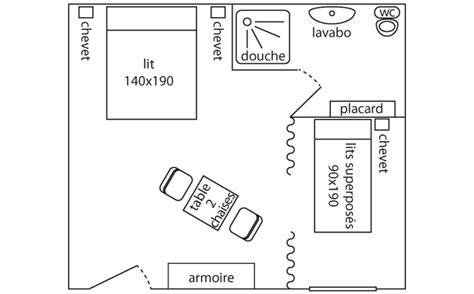 plan chambre location chambres avec piscine sarlat dordogne