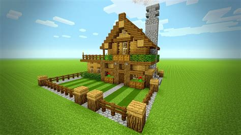 minecraft   build  small survival house tutorial rustic house ps ps xbox mcpe