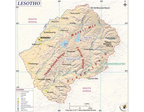 Buy Lesotho Map