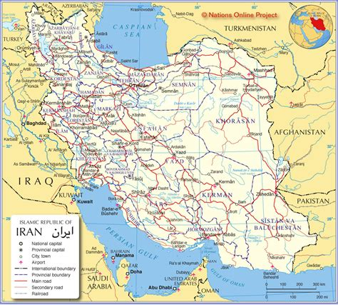 Iran In by Maps Of Iran