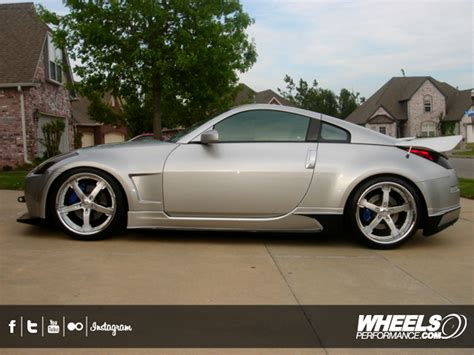 red nissan 350z our client 39 s nissan 350z with 20 quot cor wheels