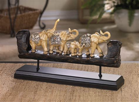 A Bejeweled Elephant Family Statue Home Decor Display. Nautical Dining Room. Bohemian Decor Style. Tuscan Kitchen Decor. Room Dividers For Studio Apartments. Decorate Your Room Online. Training Room Furniture. Room Design Software. Yellow Living Room Chairs