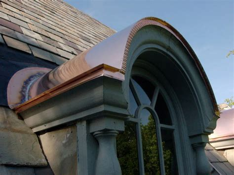 Custom Copper Barrel Dormer Roofs