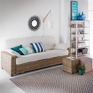 banquette lit relax multipositions malu un matelas mousse With maison du monde canapé convertible avec tapis tissé à plat