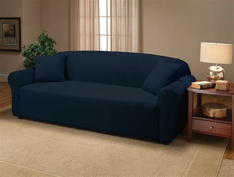 Loveseat Stretch Slipcovers by Navy Blue Jersey Stretch Slipcover Furniture Covers