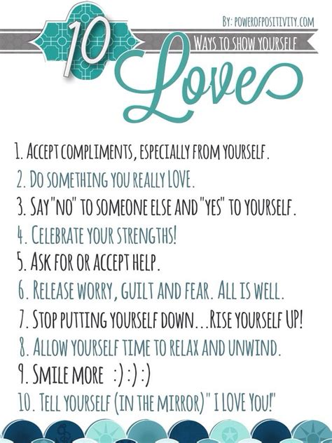 10 Simple Ways To Show Yourself Love