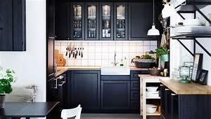 Cuisine Industrielle Ikea : cuisine noire ikea photo 8 12 encore une fois il n y ~ Dode.kayakingforconservation.com Idées de Décoration