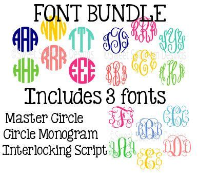 font bundle master circle circle monogram font interlocking circle monogram font cricut